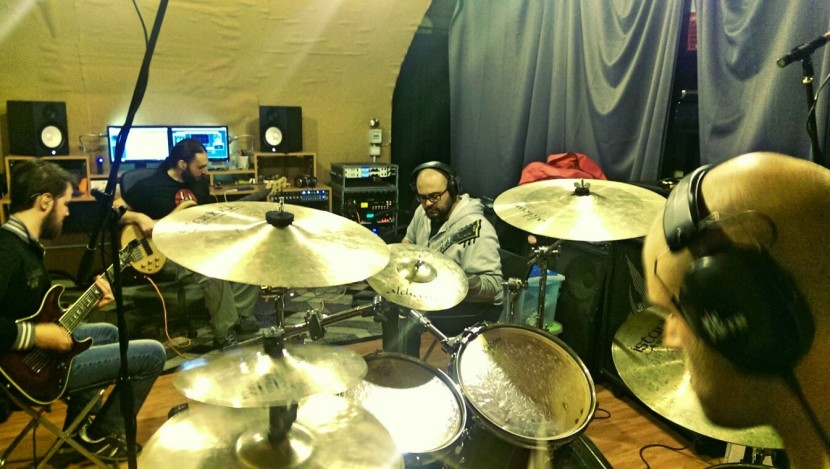 Ravenscry in studio for the new album