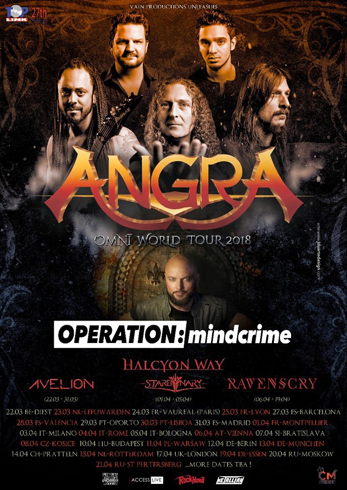 Tour Angra Omni World Ravenscry Operation Mindcrime
