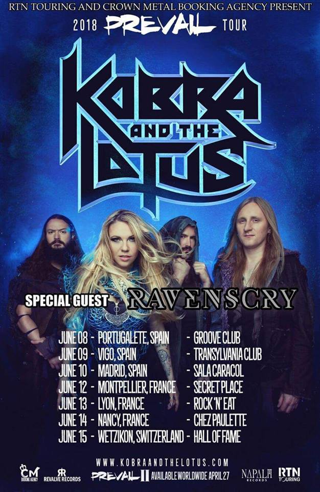 Kobra And The Lotus Ravenscry Tour